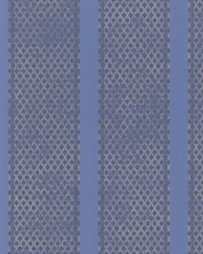 Wallpaper stripes blue cream grey metallic Marburg 58641 online kaufen
