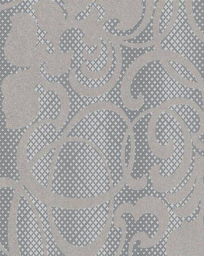 Wallpaper tendrils stars silver metallic Marburg 58644 online kaufen