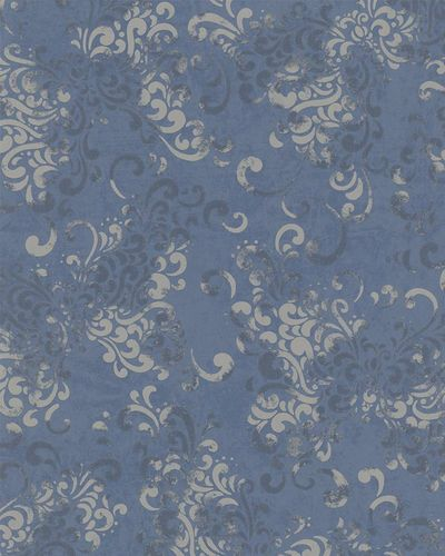 Wallpaper baroque blue metallic Marburg 58654 online kaufen
