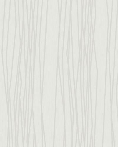 Wallpaper stripes abstract white silver gloss Marburg 57813