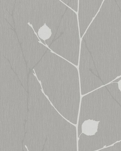 Wallpaper branches leafs dark grey gloss Marburg 57845 online kaufen