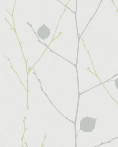 Wallpaper branches leafs white dark grey gloss Marburg 57848 online kaufen