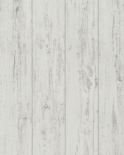 Wallpaper wooden grain grey white Marburg 57886