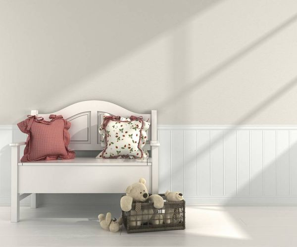 Wallpaper border paintable floorboards Rasch 117608