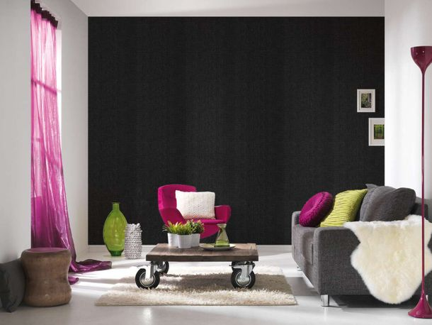 Wallpaper Eco plaid checked black gloss AS 34136-2 online kaufen