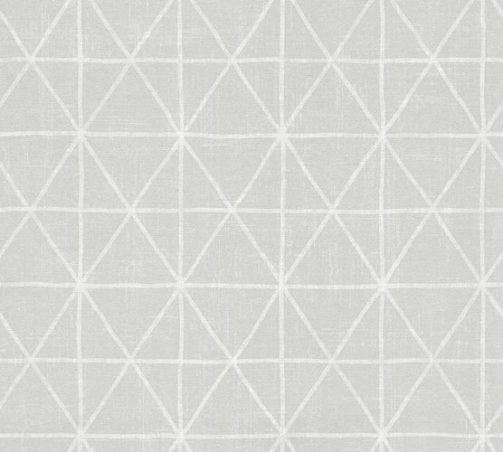 Wallpaper Eco graphic silver gloss AS 34137-8
