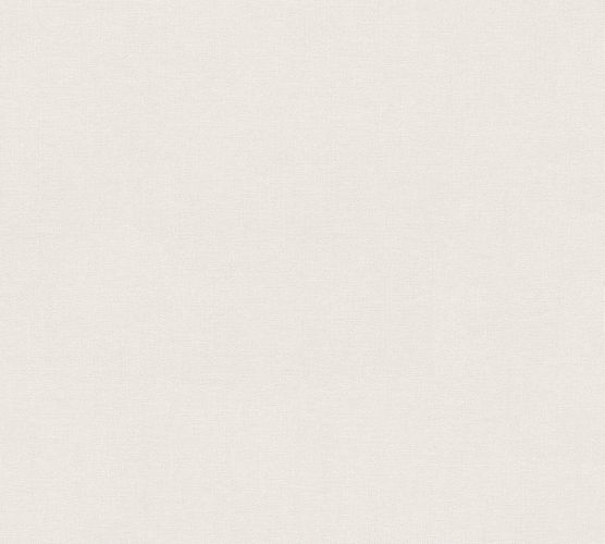 Wallpaper Eco plain silver white gloss AS 34138-1