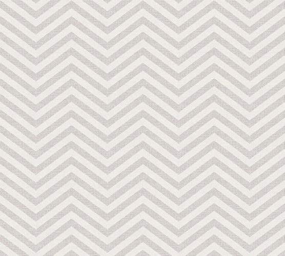Wallpaper Eco ethno zigzag grey gloss AS 34139-3