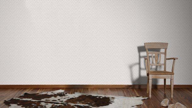 Wallpaper Eco ethno zigzag grey gloss AS 34139-3 online kaufen