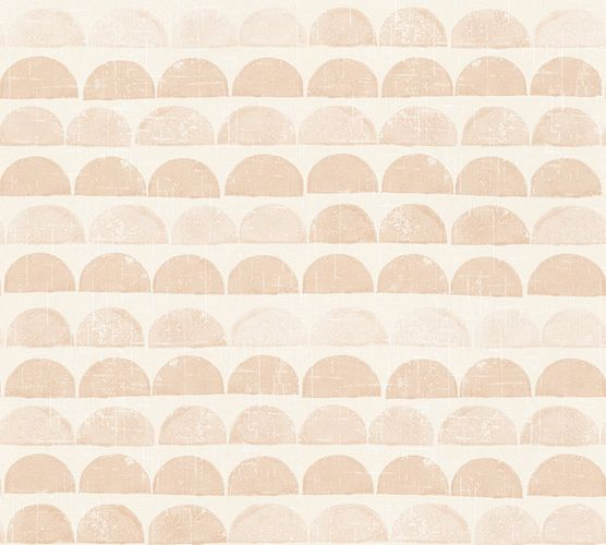 Wallpaper Eco semicircle graphic beige AS 34244-1