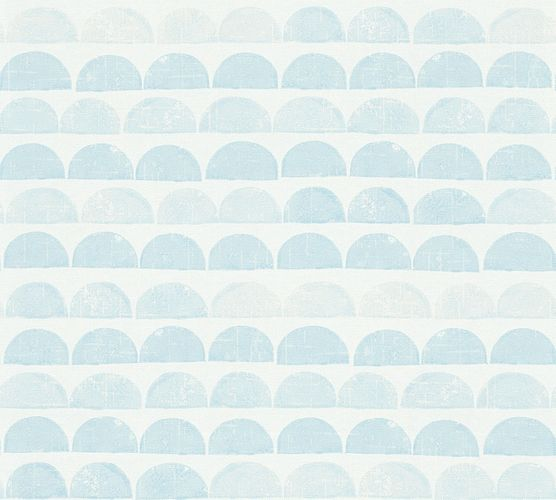 Wallpaper Eco semicircle graphic blue gloss AS 34244-4