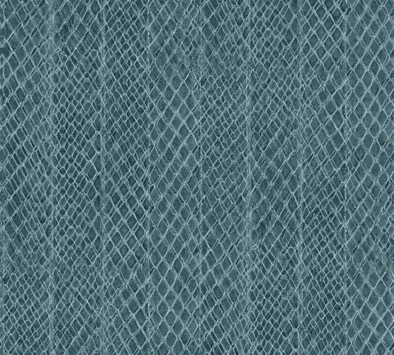 Wallpaper snake skin blue cream AS Creation 33987-1