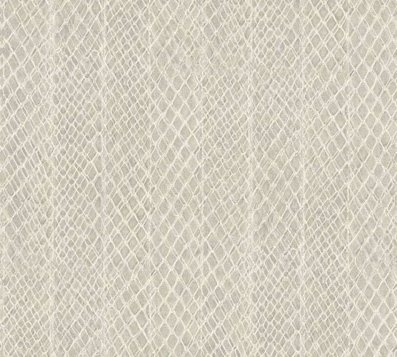 Wallpaper snake skin cream grey cream AS Creation 33987-6