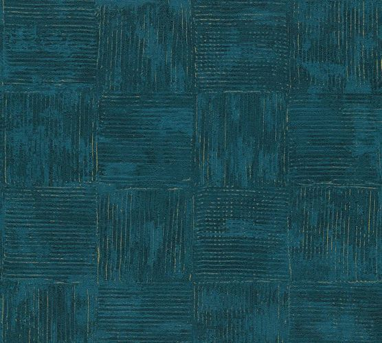 Wallpaper tiles vintage blue gold AS Creation 33989-5