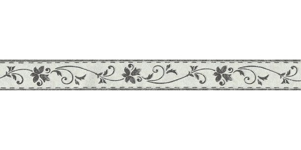 Wallpaper Border Tendril white black self-adhesive 2590-11 online kaufen