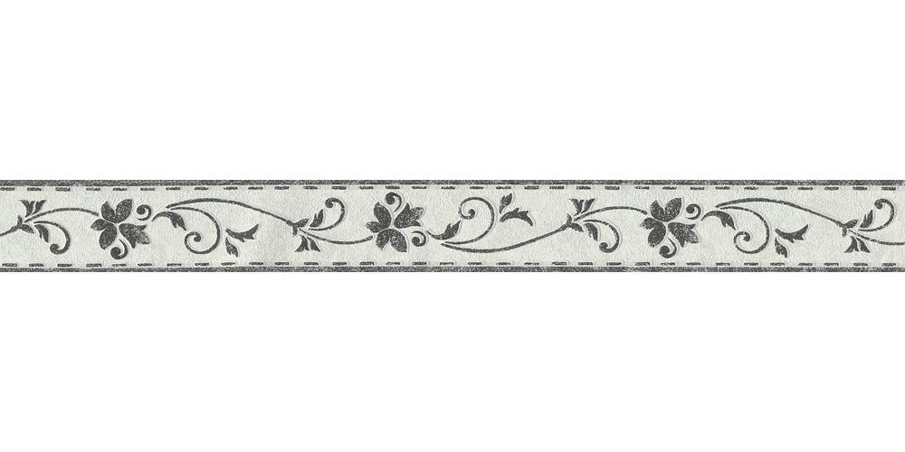Wallpaper Border Tendril White Black Self Adhesive 2590 11