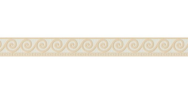 Tapetenbordure Borte Wellen Weiss Beige As 2592 19