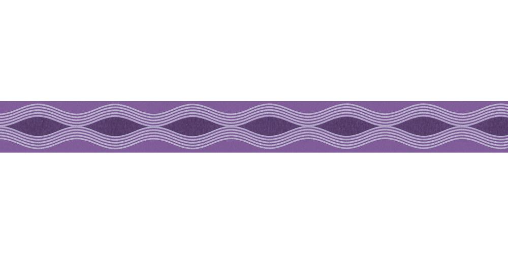 Wallpaper Border Kids Wave Purple Self Adhesive 2603 21