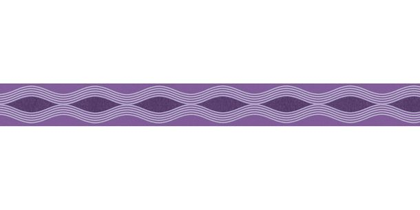 Wallpaper Border Kids Wave purple self-adhesive 2603-21 online kaufen