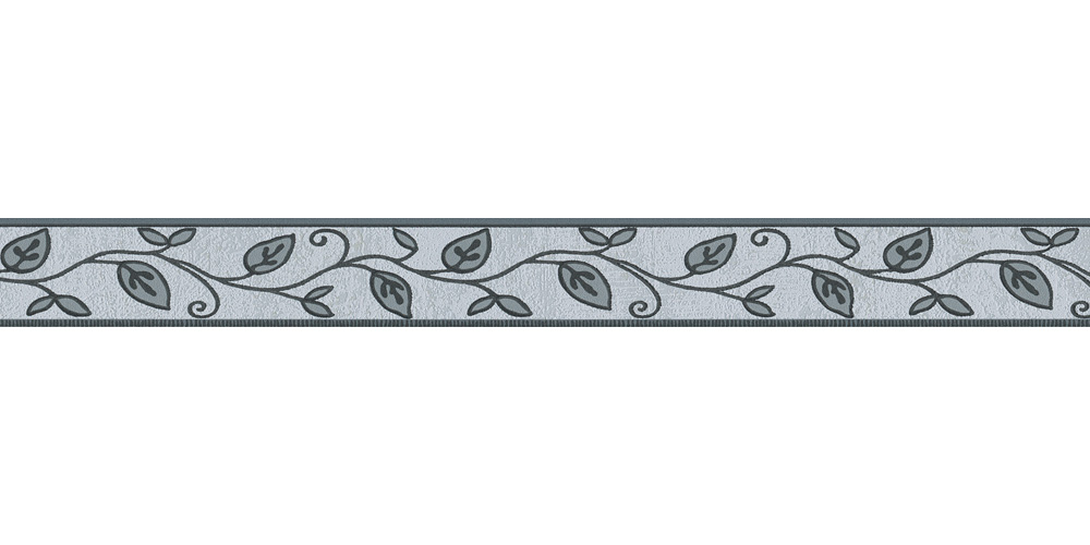 Wallpaper Border Leaf Floral Grey Self Adhesive 2622 19