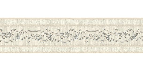 Wallpaper Border Tendril cream taupe self-adhesive 2635-13