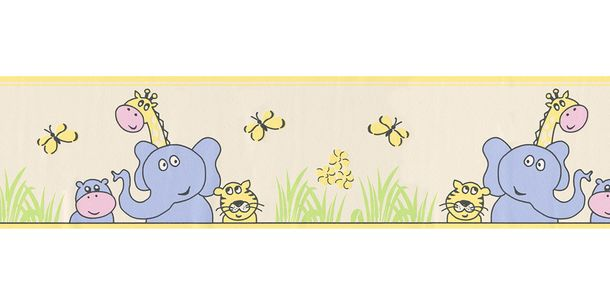 Wallpaper Border Kids Animal colourful self-adhesive 2809-16 online kaufen