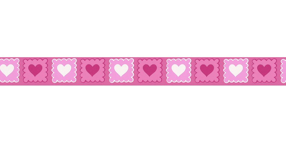tapeten bord re kinder herzen pink wei as 2818 38. Black Bedroom Furniture Sets. Home Design Ideas