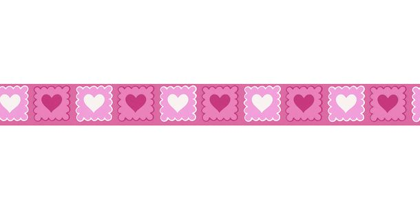 Wallpaper Border Kids Heart pink white self-adhesive 2818-38 online kaufen