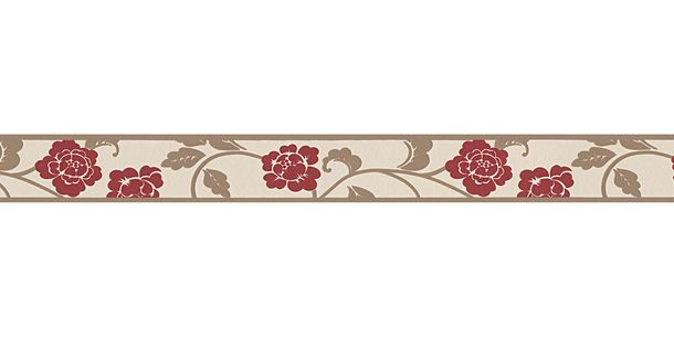 Wallpaper Border Bloom Leaf cream self-adhesive 2820-19