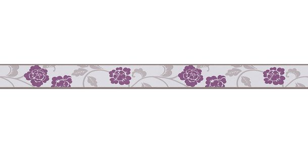 Wallpaper Border Bloom Leaf grey self-adhesive 2820-26 online kaufen