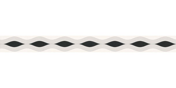 Wallpaper Border Wave white grey self-adhesive 2822-17 online kaufen
