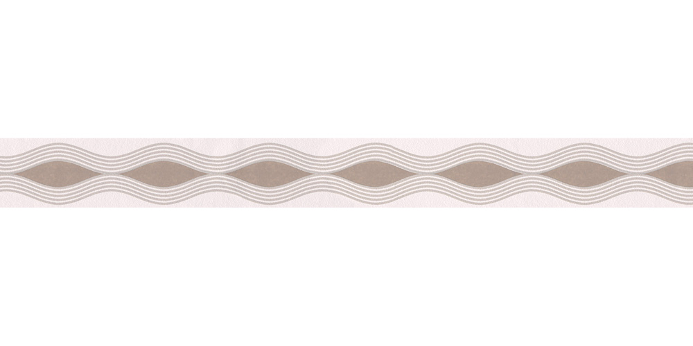 Tapetenbordure Borte Wellen Weiss Taupe As 2822 24