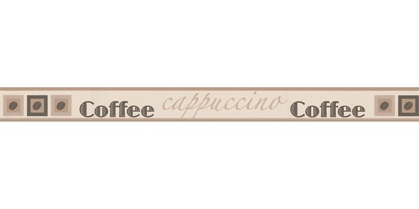 Wallpaper Border Coffee beige brown self-adhesive 2828-11 online kaufen