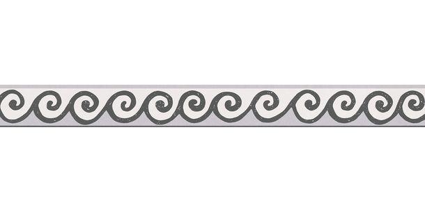 Tapetenbordüre Borte Wellen weiß schwarz AS 30346-1 online kaufen