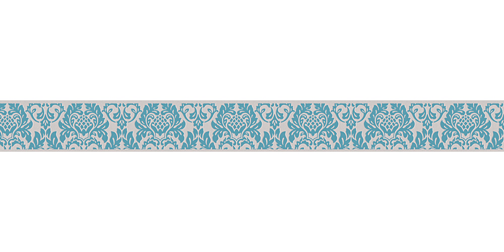 Wallpaper Border Baroque Grey Turquoise Self Adhesive 30389 1