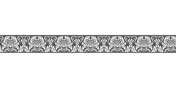 Tapetenbordüre Borte Barock schwarz weiß AS 30389-3 online kaufen