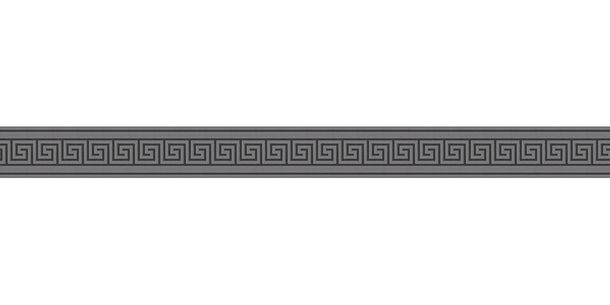 Wallpaper Border Greek grey black Gloss self-adhesive 8959-43