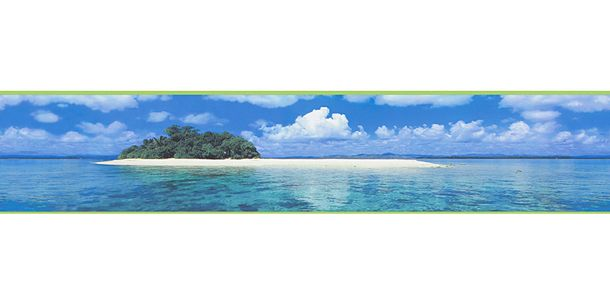 Wallpaper Border Kids Island blue green self-adhesive 9032-11 online kaufen
