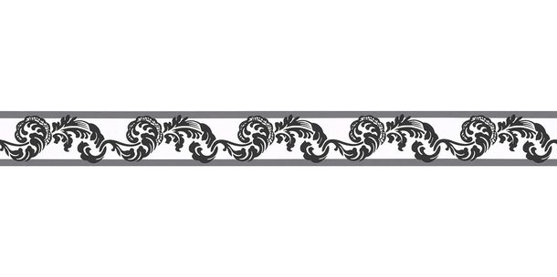 Wallpaper Border Tendril white black self-adhesive 9043-17 online kaufen