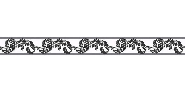 Tapetenbordüre Borte Ranken weiß schwarz AS 9043-17 online kaufen