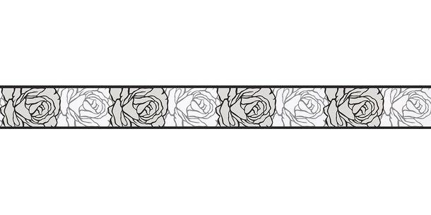 Wallpaper Border Rose white black self-adhesive 9050-24 online kaufen