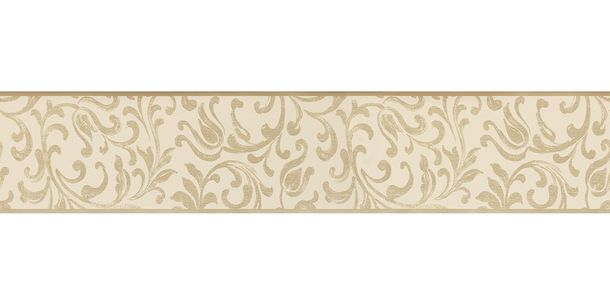 Wallpaper Border Tendril beige gold Gloss self-adhesive 9055-29 online kaufen