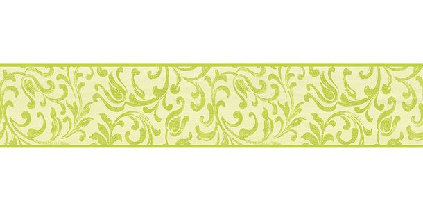 Wallpaper Border Tendril green Gloss self-adhesive 9055-36 online kaufen