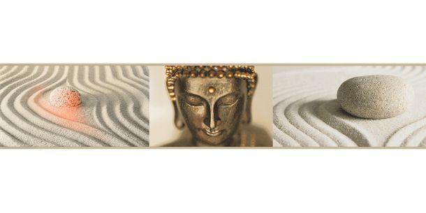 Wallpaper Border Buddha gold cream self-adhesive 9057-10 online kaufen
