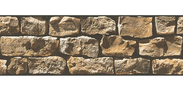 Wallpaper Border Stone Wall cream beige self-adhesive 9058-19 online kaufen