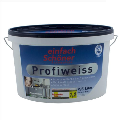 Profiweiss Paint Colour White Painting Indoor 2.5 liters online kaufen