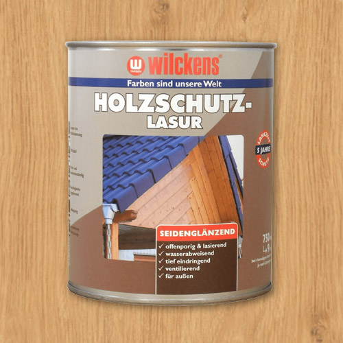 Holzschutzlasur farblos 750ml Lasur Wetterschutz Wilckens