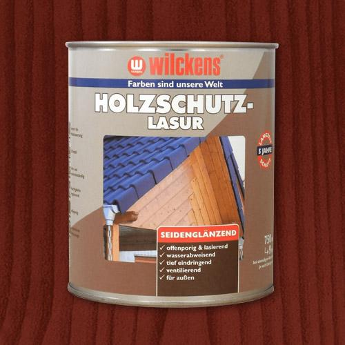 Holzschutzlasur mahagoni 750ml Lasur Wetterschutz Wilckens