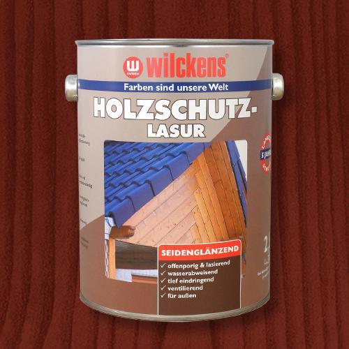 Holzschutzlasur mahagoni 2,5l Lasur Wetterschutz Wilckens