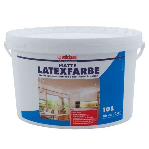 Latex Paint Flat 10 liters Latex Painting Wilckens